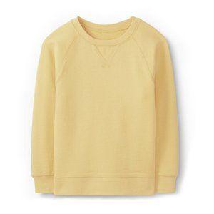 Uniqlo kids yellow crew ultra stretch sweatshirt